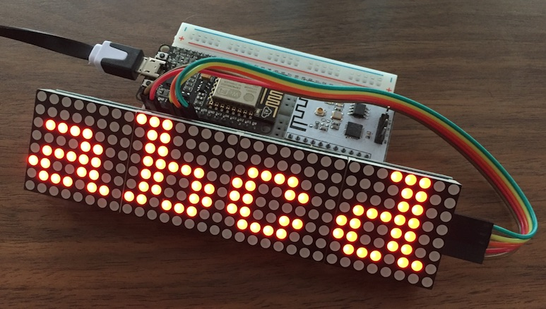 MAX7219 4-in-1 display