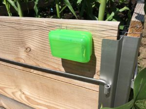 Attach battery box to the raised bed
