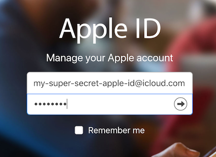 Apple ID sign-in